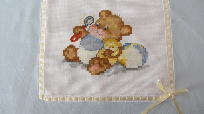 Coccole set regalo neonato copertina in maglia e lenzuola per